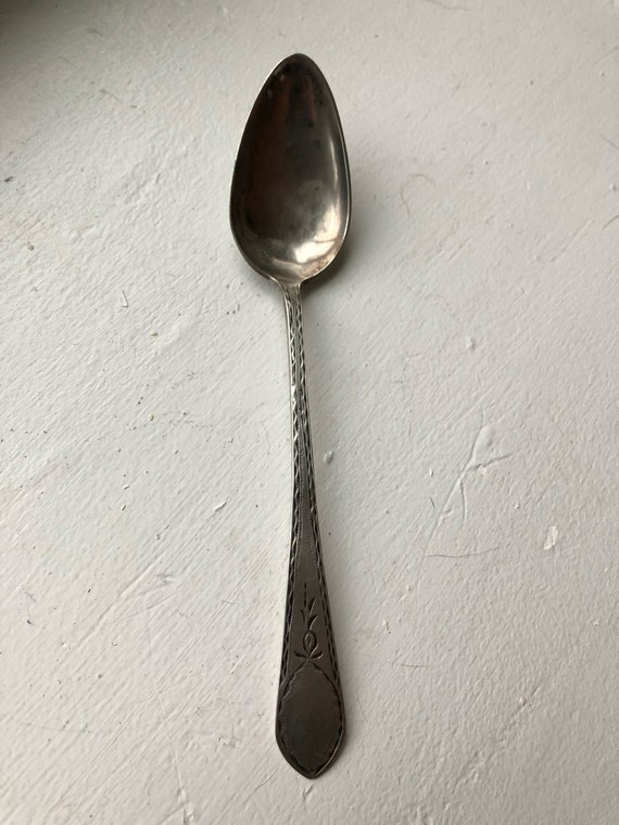 1800 Scottish Provincial Teaspoon by John Lesley Sterling Silver