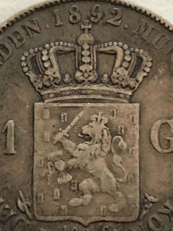 1892 Dutch 1 Gulden (VF)