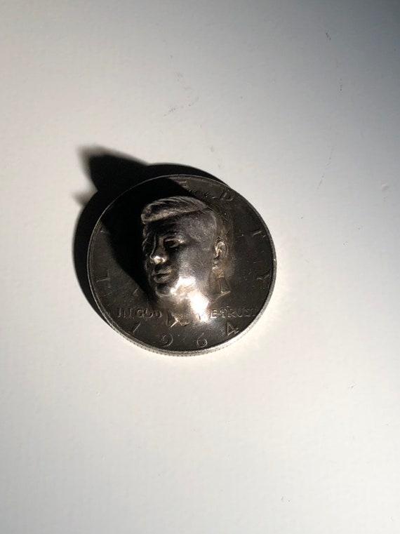 Sterling Popout 1964 Kennedy Half Dollar