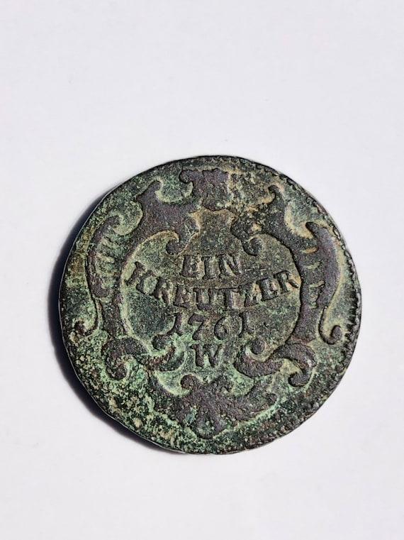 1761 W Austrian 1 Kreuzer (KM1993) Coin
