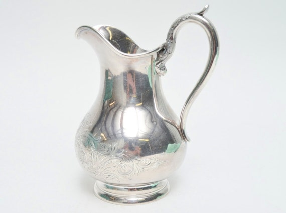 Boston 1840-1860 Newell Harding & Co Coin Silver Cream Jug