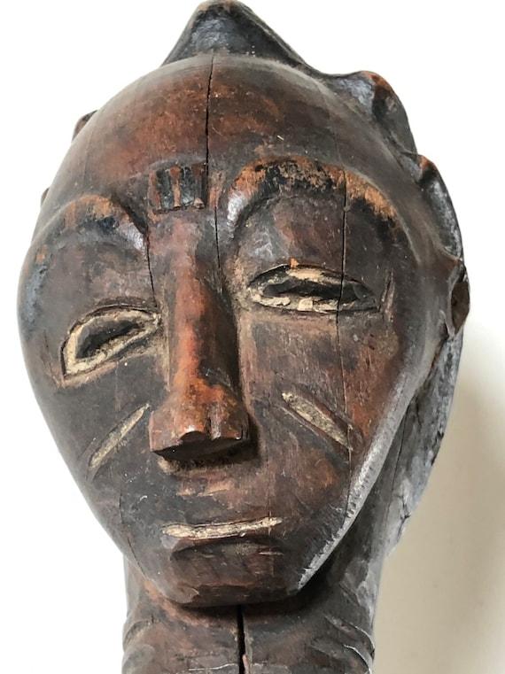 Baule Divinatory Figure Female West African Wood Carving - Akan Côte d'Ivoire