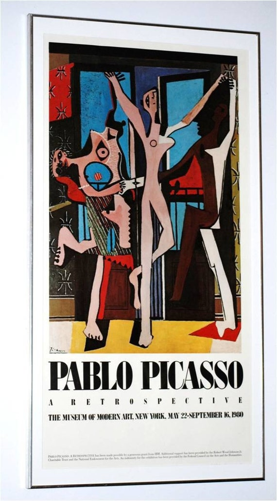 Offset Lithograph Poster for a 1980 Pablo Picasso Retrospective Exhibition
