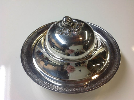 Turkish 900 Silver Covered Dish with Figural Finial