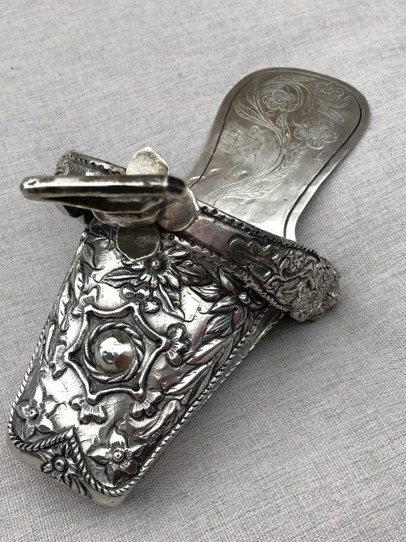 1850 Peruvian Sterling Silver Side Saddle Stirrup