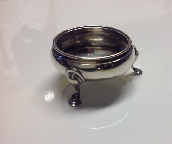 1775 Nathaniel Appleton and Anne Smith London Sterling Silver Salt Cellar George III Colonial