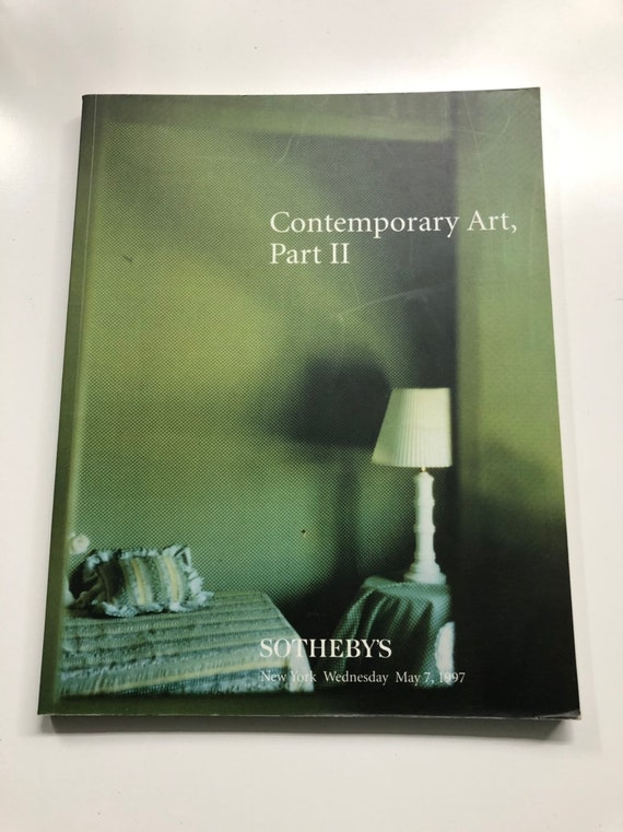 Sotheby's Auction Catalog, Contemporary Art Part II May 7, 1997 New York