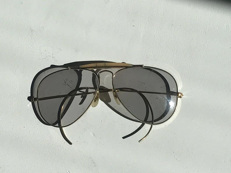 35d85c9dc4c Handsome Ray-Ban Outdoorsman Aviator Grey Glasses Gold Plated