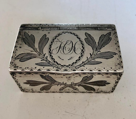 1810 Laurent Amiot Silver Snuff Box Made in Quebec