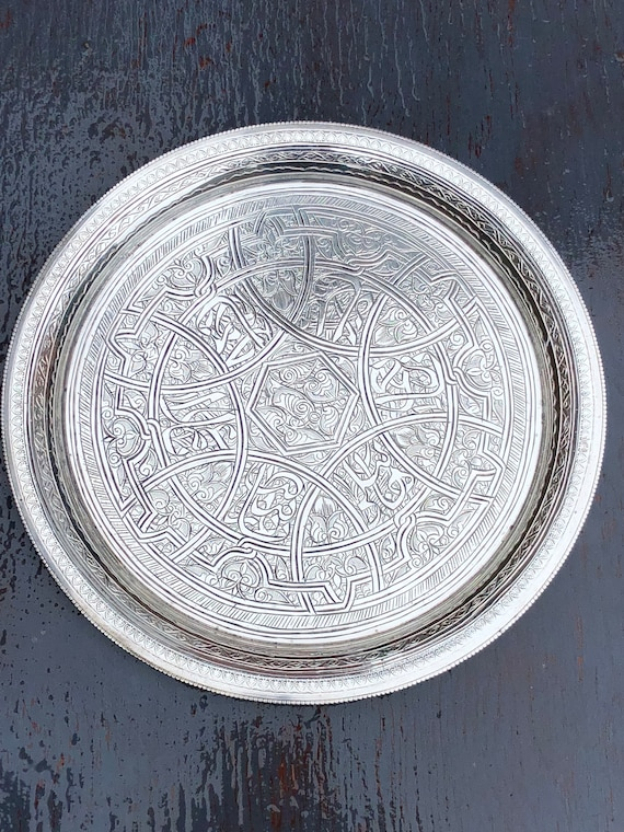 1943-44 Egyptian 900 Silver Tray from Cairo