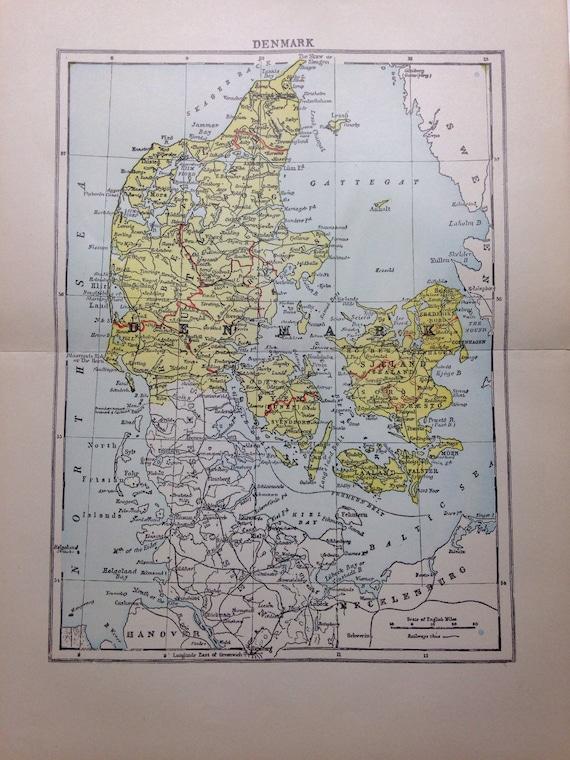 1897 Denmark Map