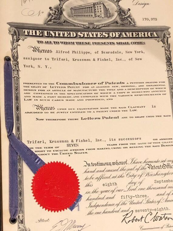 1953 - United States Patent for Trifari Jewelry Bracelet