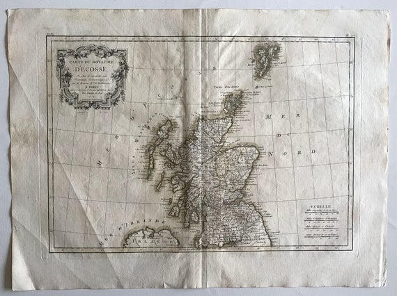 1771 Map of Scotland and Northern Ireland