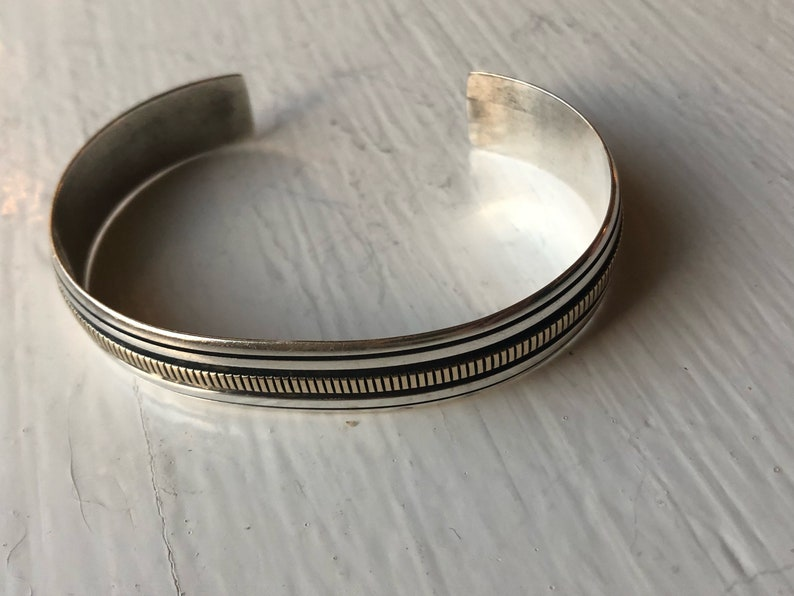 a5fc20fa515 14K Gold and Sterling Silver Navajo Bracelet by 'AB' | Etsy
