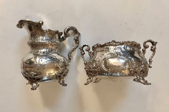1895 Bracia Hempel Russian Silver Tea Set from Warsaw Poland Sterling