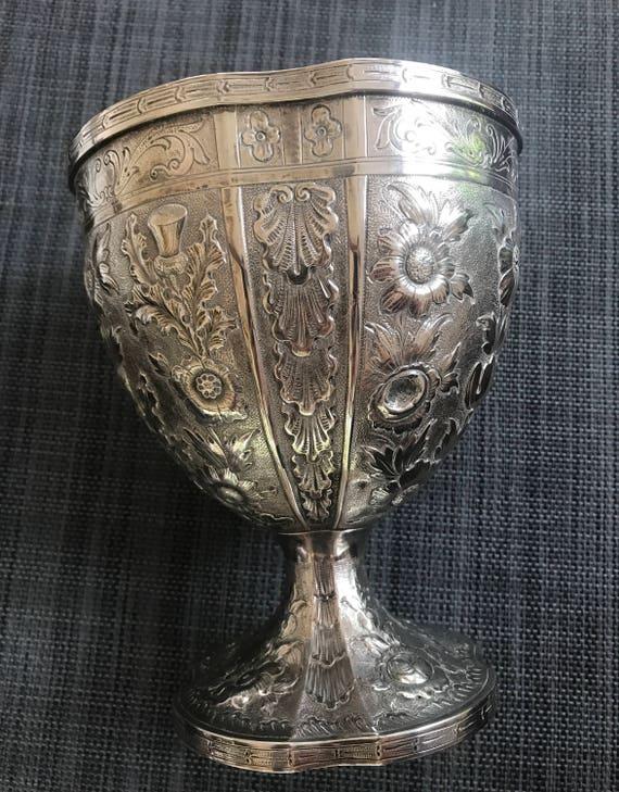 Monumental Philadelphia 1855-1860 Bailey & Co Coin Silver Chalice Form Vase (515 grams)
