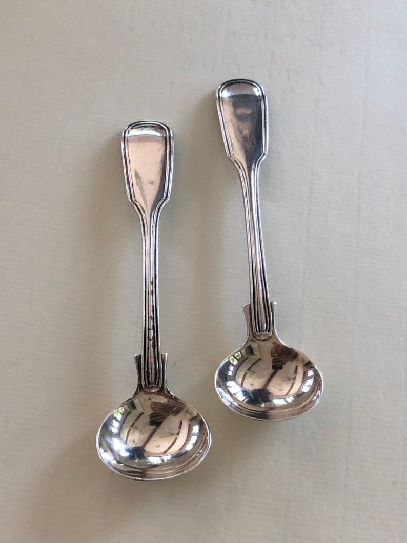 """King Edward by Whiting Sterling Silver Salt Spoon Master Custom Made 3 1//2/"""""""