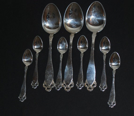 Set of Brodrene Lohne 830S Norway Silver Spoons