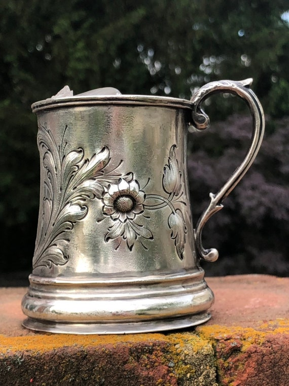 Ca 1850 - John Chandler Moore Coin Silver Christening Cup NYC