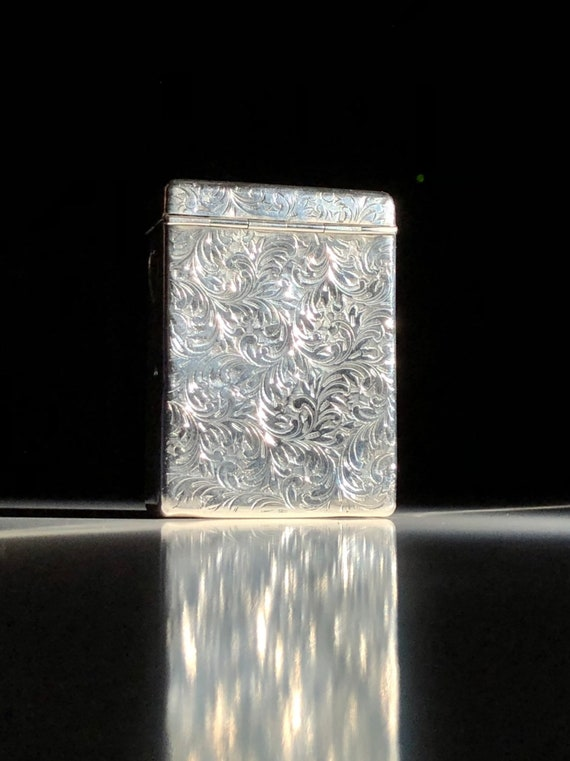 Japanese 950 Sterling Silver Cigarette Case or Box
