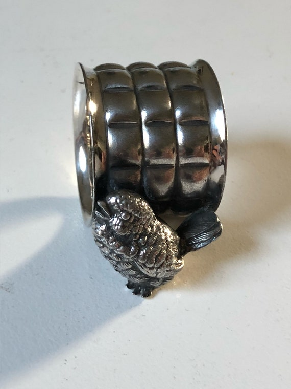 Silver Bird Napkin Ring