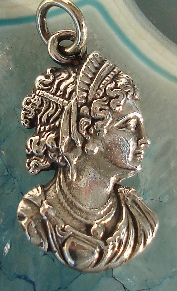 Vintage Victorian Lady Sterling Silver Bracelet Ch