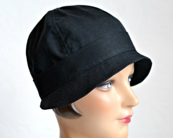 2752e970db8 Cloche Rain Hat - Waxed Canvas Rain Hat - Made To Order - 2 WEEKS FOR  SHIPPING