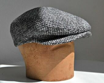 455d149cf67 Men s Driving Cap in Vintage Donegal Hand Woven Tweed - Tweed Flat Cap - Men s  Hat - Made to Order