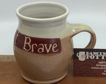 Sale! 20% Off! - Wizarding Mug - Bold, Gallant, Brave - 16 oz Mug