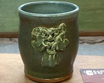 Green Man Mug - Coffee Tea Mug - Nature Spirit - Valentine Gift - Pagan Tea Party -Rustic Primitive Ceramic Cup - Renn Faire Gift -