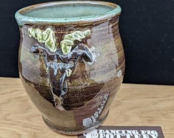 KRAMPUS - Handmade Coffee Mug - 16 oz. capacity - Tea Lovers Gift - Rustic Primitive Cup - Christmas, Yule, Krampus, German
