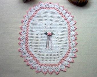 Victorian Angel Crochet Lace Thread Art Doily New Handmade