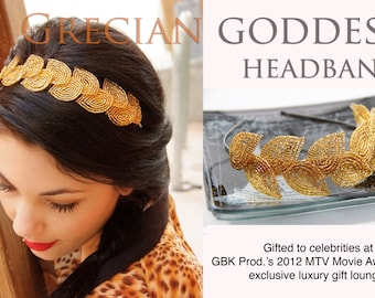 PATTERN- Grecian Goddess headband pattern and tutorial