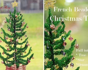 KIT French beaded Christmas tree tutorial/pattern
