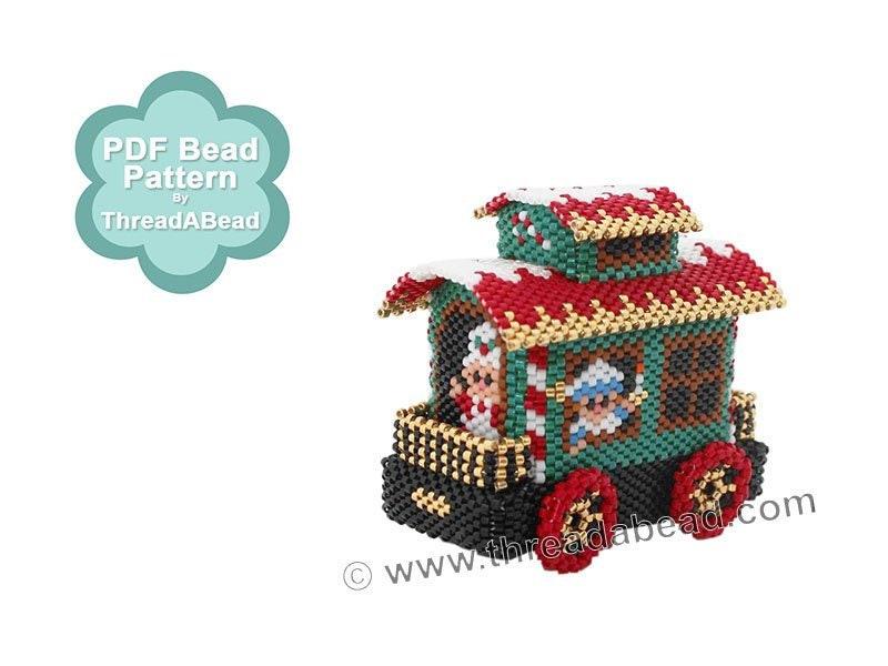 Bead Pattern: Christmas Train Ornament Pattern Part 6 The ...