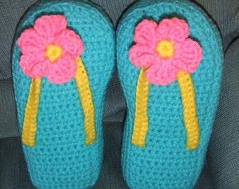 Crocheted Flip Flop Pillows Special order for Tammy