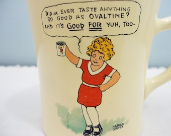 CLEARANCE SALE! Vintage Ovaltine Mug - Made for Wonder Co.