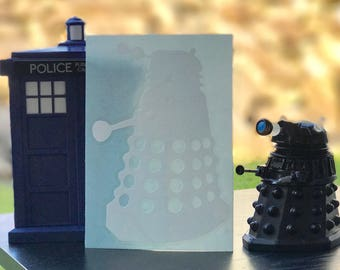Doctor Who Inspired Dalek Car, Laptop, or Decor Vinyl Decal