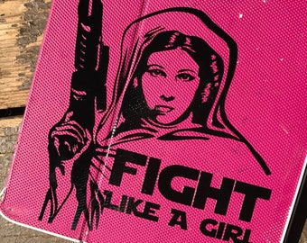 Star Wars Princess Leia Fight Like A Girl Car, Laptop, or Decor Vinyl Decal