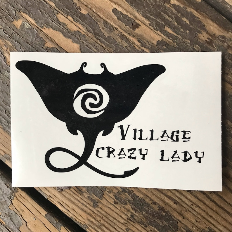 Village Crazy Lady Stingray Moana Disney Inspired Vinyl Car, Laptop, or  Decor Decal