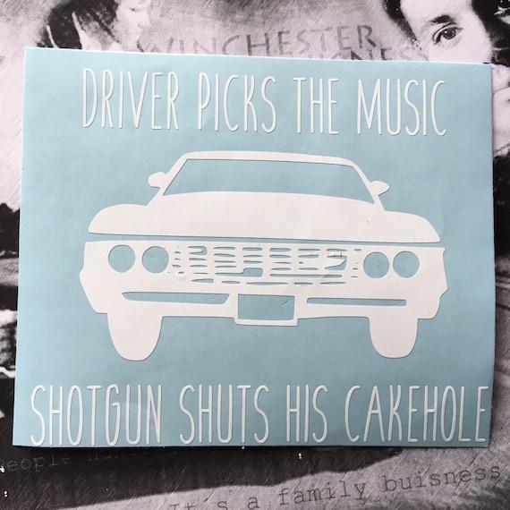 "8/"" width laptop Vinyl Decal Sticker Car fridge Supernatural Driver Picks"