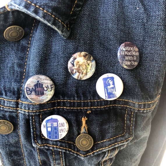Doctor Who Inspired Custom Pin Buttons Love is a Promise