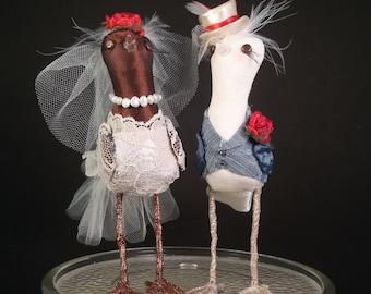 Wedding Cake Topper Custom made to order Ferdi Birds miniature love birds LGBTQ