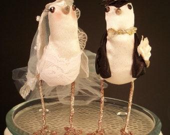Wedding Cake Topper Custom made to order Ferdi Birds miniature love birds