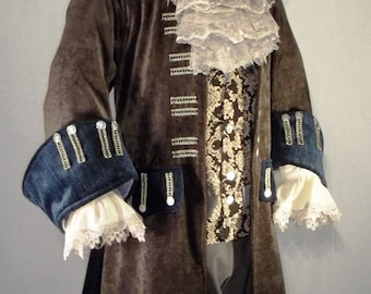Vest Custom made to order Pirate Costume vest Cosplay Halloween Costume Wedding Groom Best man Historical vest Historical costume bOTqrqFe