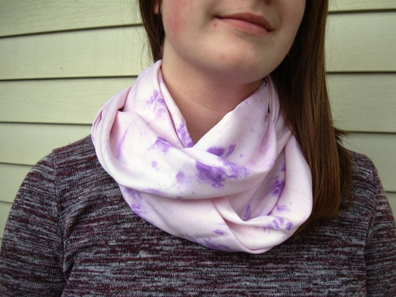 Rosa und lila lila Infinity Schal Hand Dye-Look Stoff leichte | Etsy
