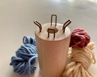 Corking Set - Knitting Spool - Strickliesel - Tricotin - Knitting Nancy - Peg Knitter - Spool Knitter - Knitting Knobby - Bizzy Lizzy