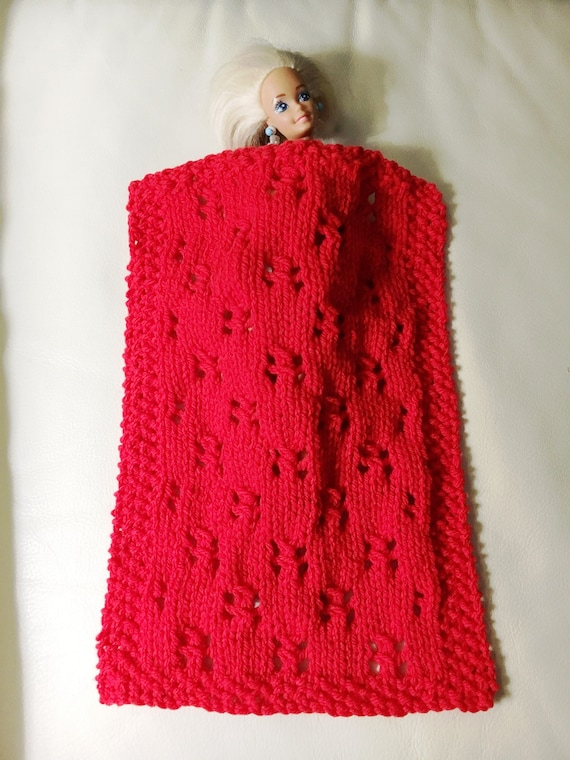 Pdf Knitting Pattern For Birthday Doll Blanket Pattern Etsy