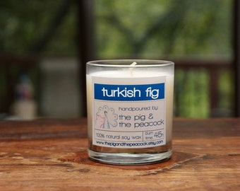 Soy Candle - Turkish Fig Pure Soy Wax Candle // Fall Scent // Gift for Him // Hostess Gift