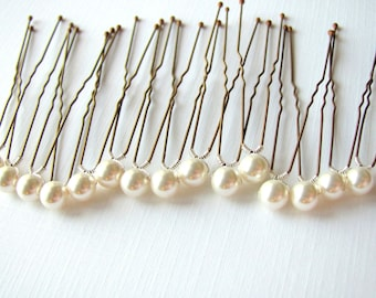 15 Swarovski 6mm Pearl Bridal Hair Pins